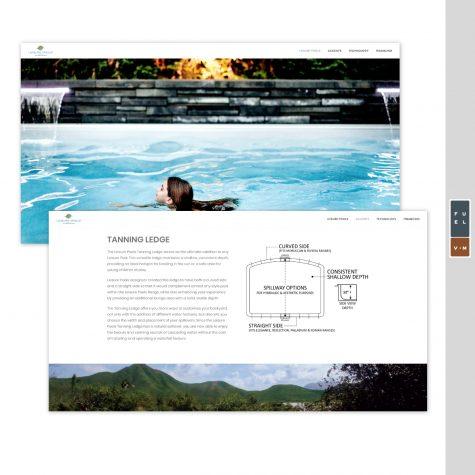 Indy Fiberglass Pools Website